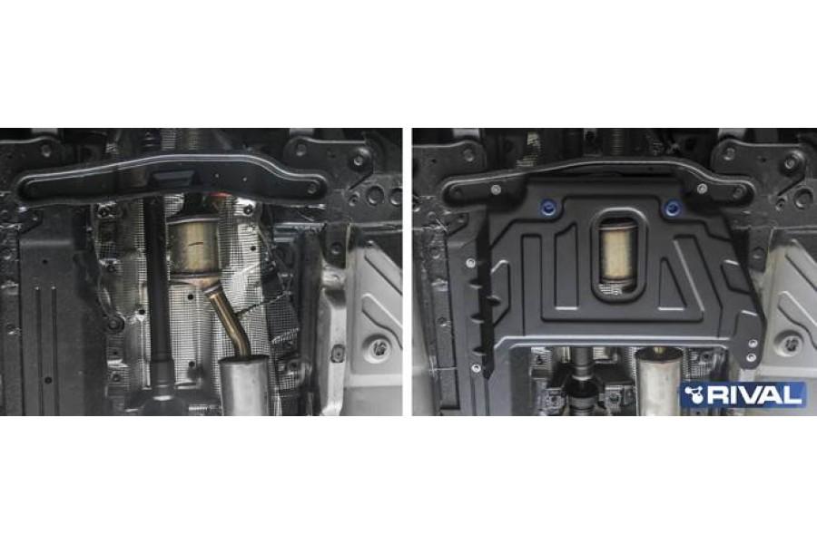 Защита кислородного датчика  Duster, V - 1.6 МКПП; полный привод