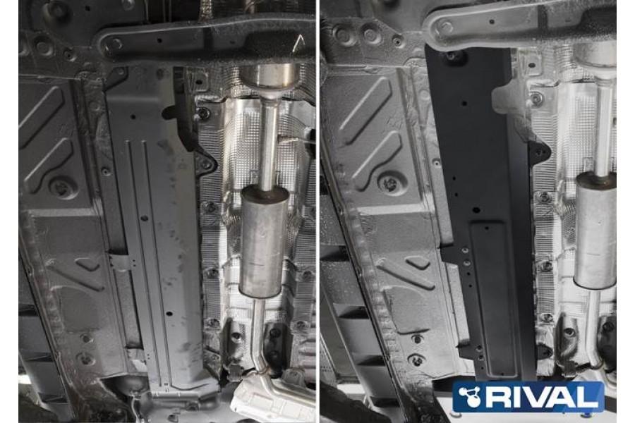 Защита топливных трубок Duster, V - 1.3Т; 1.5d MКПП; 1.6 MКПП; полный привод