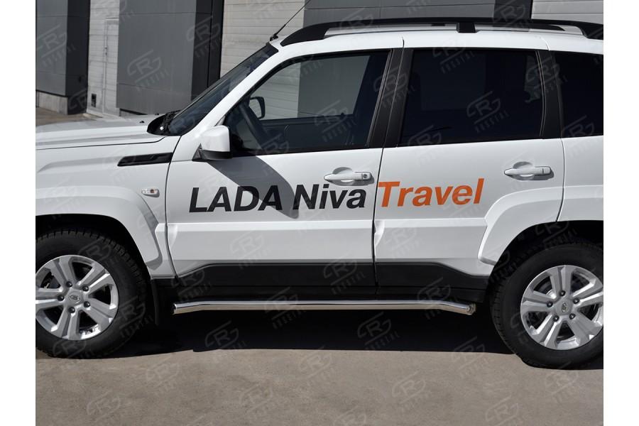 LADA NIVA TRAVEL 2021- Пороги труба d63 секции (вариант 1) LNTT-0035631