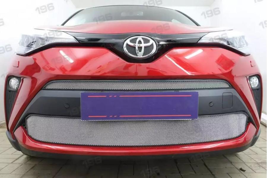 Защита радиатора Toyota C-HR 2019- chrome верх