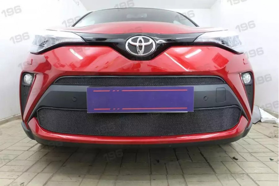Защита радиатора Toyota C-HR 2019- black низ
