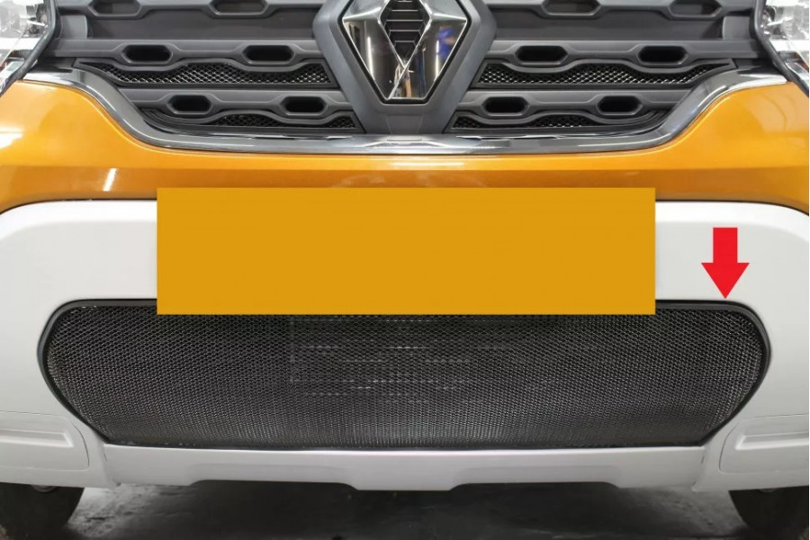 Защита радиатора Renault Duster 2021- black низ