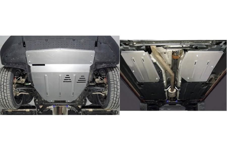 Защиты комплект (алюминий) 4 мм (картер и кпп, бака и адсорбера)