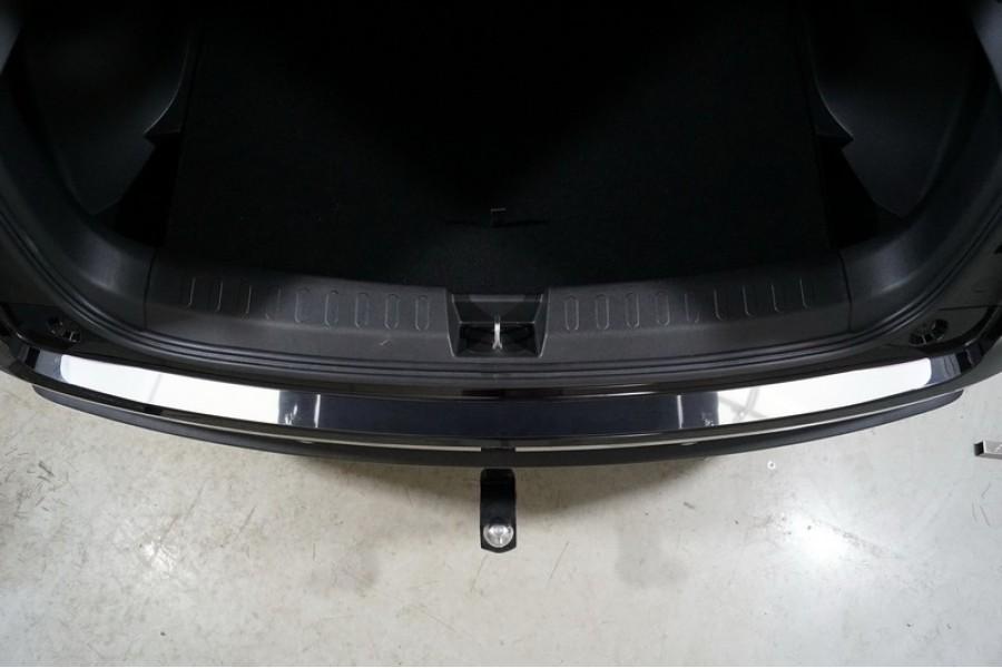 Накладка на задний бампер (лист зеркальный)