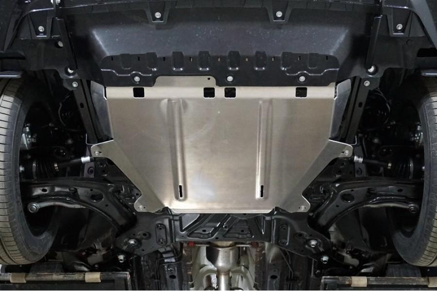 Защита картера и КПП (алюминий) 4мм на комплектации Elite и Premium