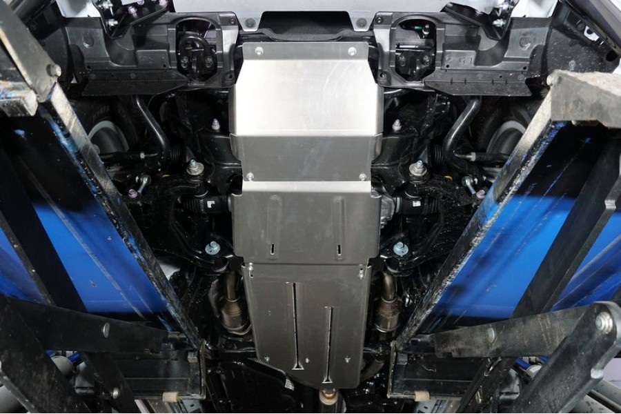 Защиты комплект (алюминий) 4мм (радиатор, передний редуктор, акпп, рк)