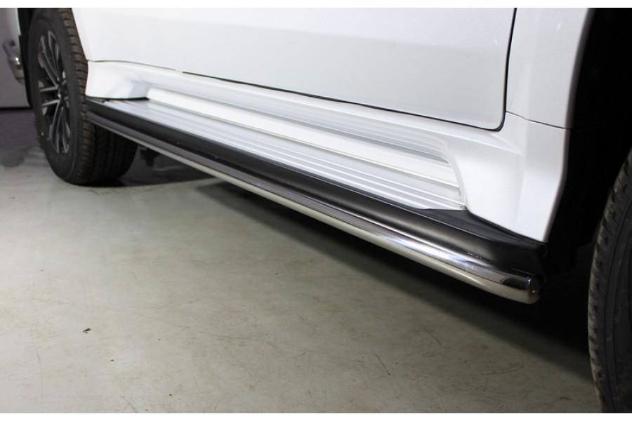 Защита порогов 42,4 мм (Mitsubishi Pajero Sport 2016)