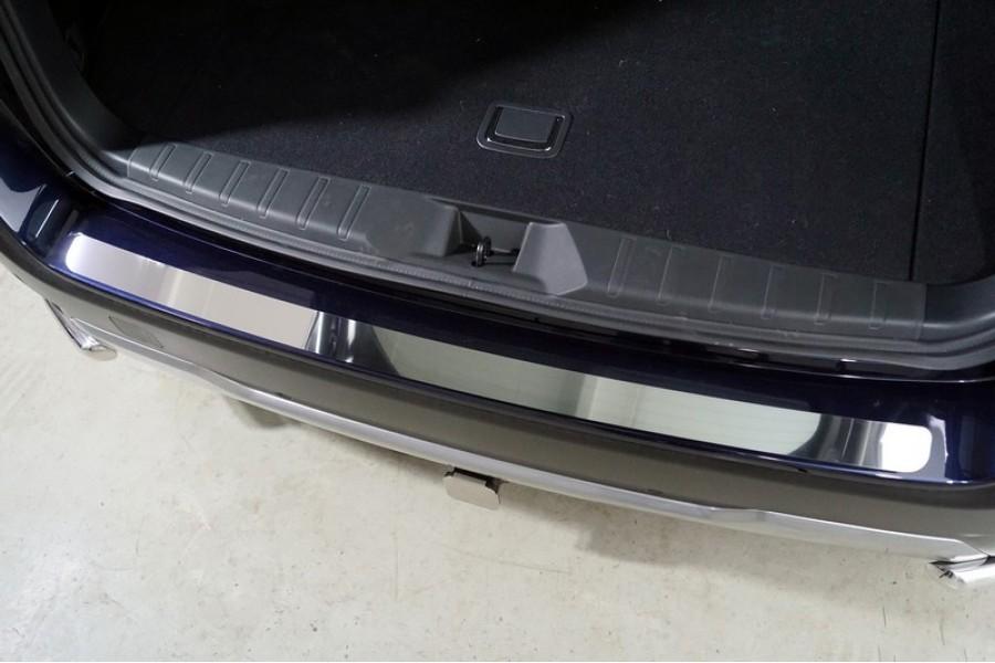 Накадка на задний бампер (лист зеркальный)