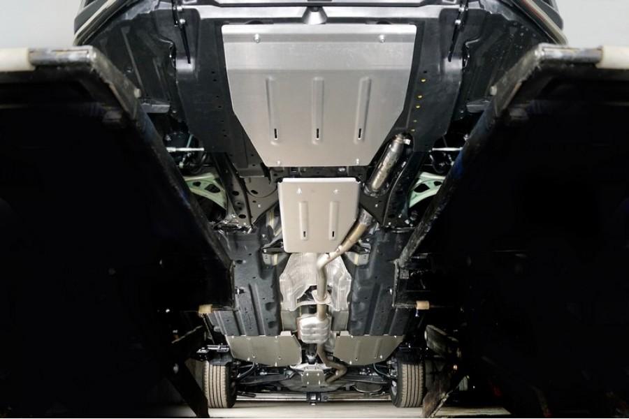 Защиты комплект (алюминий) 4мм (картер, кпп, дифференциал, бак правая, бак правая)