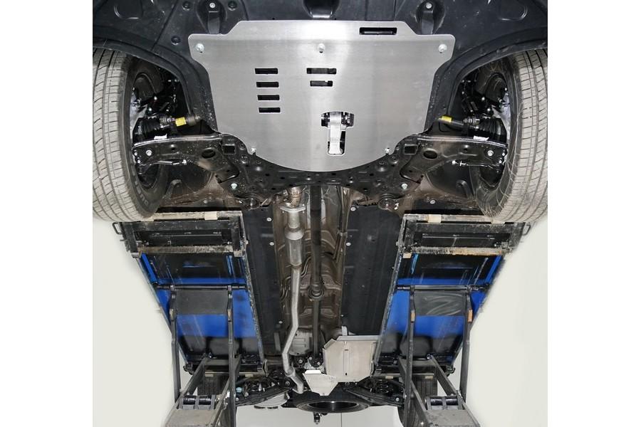 Защиты комплект (алюминий) 4мм (картер и кпп, заднего редуктора, бак)