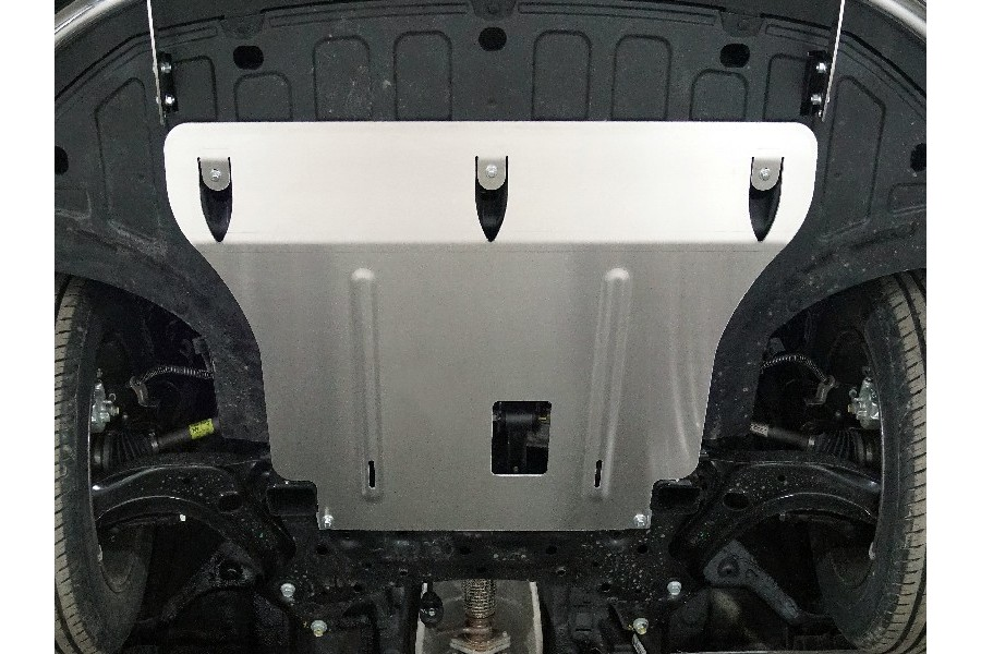 Kia Rio X 2020  Защита картера и КПП (алюминий) 4мм