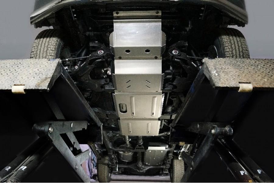 Защиты комплект (алюминий) 4 мм (картер, передний дифференциал, КПП, раздатка, бака)