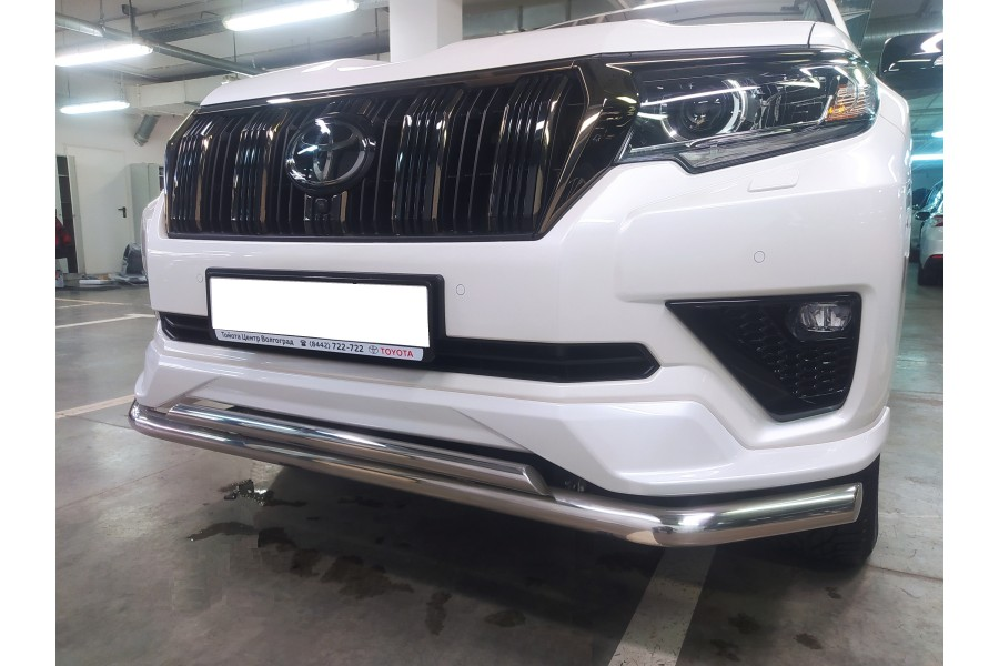 Land Cruiser Prado 150 Black Onyx 2020 Защита переднего бампера двойная d60/42