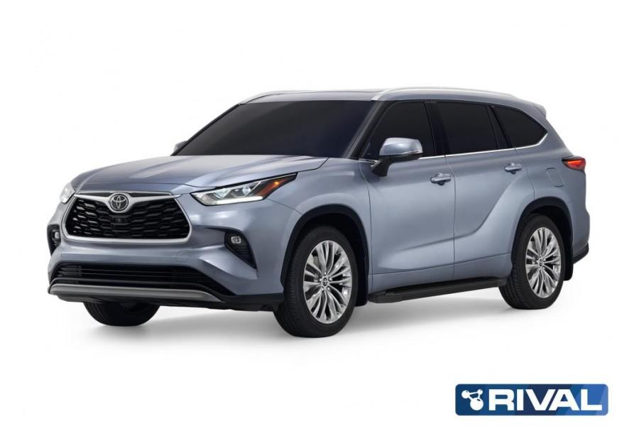 """Порог-площадка """"Black"""" Toyota Highlander 2020-"""