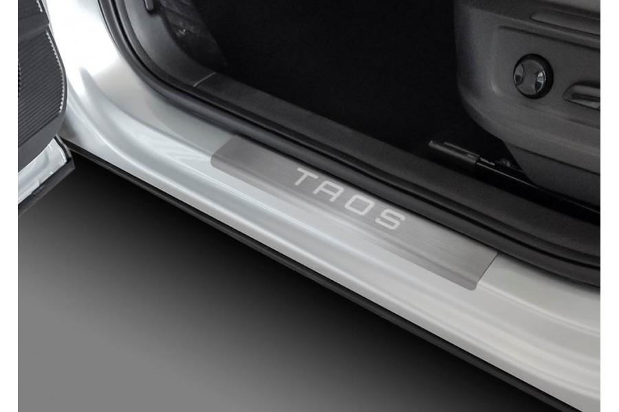 Накладки порогов RIVAL (4 шт.) Volkswagen Taos (2021-) (название модели)