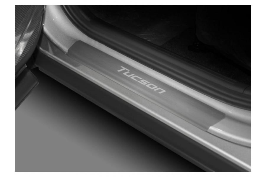 Накладки порогов  (4 шт.) Hyundai Tucson (2021-)