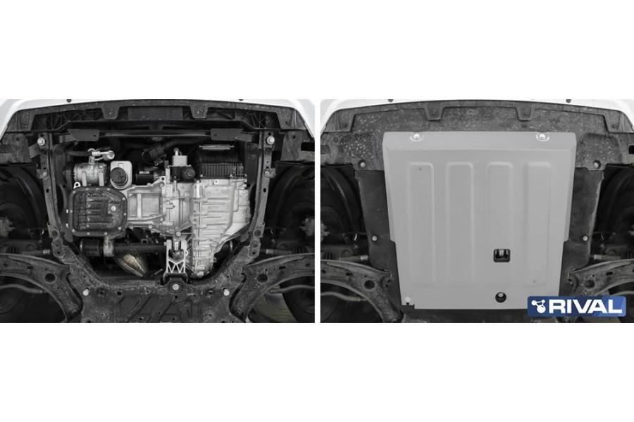 Защита картера + комплект крепежа,  Алюминий, HAVAL Jolion 1.5T, АКПП, передний привод
