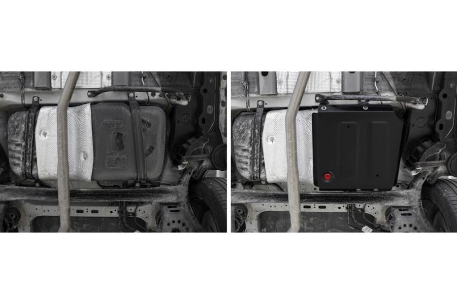 Защита топливного бака + комплект крепежа,  Сталь, HAVAL Jolion 1.5T, АКПП, передний привод