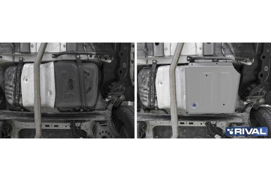 Защита топливного бака + комплект крепежа,  Алюминий, HAVAL Jolion 1.5T, АКПП, передний привод