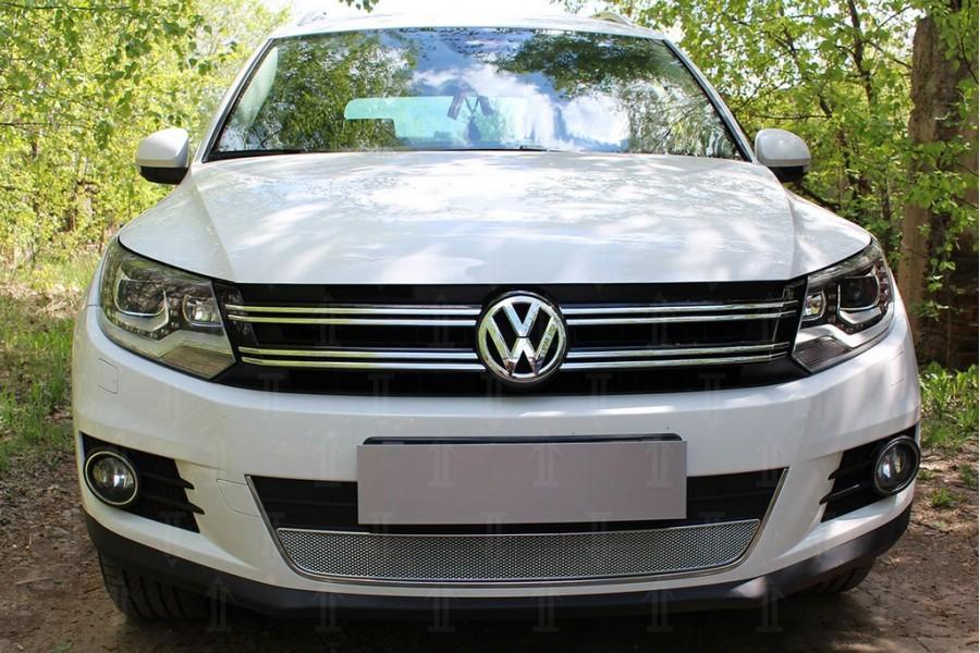 Защита радиатора Volkswagen Tiguan (рестайлинг) 2011-2016 chrome OPTIMAL