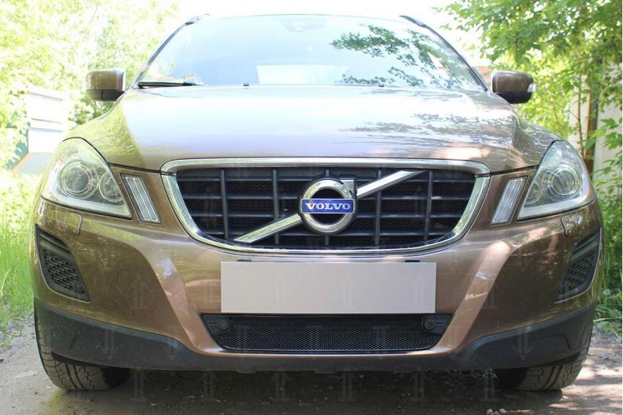 Защита радиатора Volvo XC60 2008-2013 black низ с парктроником OPTIMAL