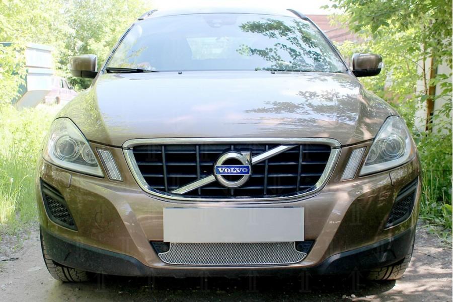 Защита радиатора Volvo XC60 2008-2013 chrome низ с парктроником OPTIMAL