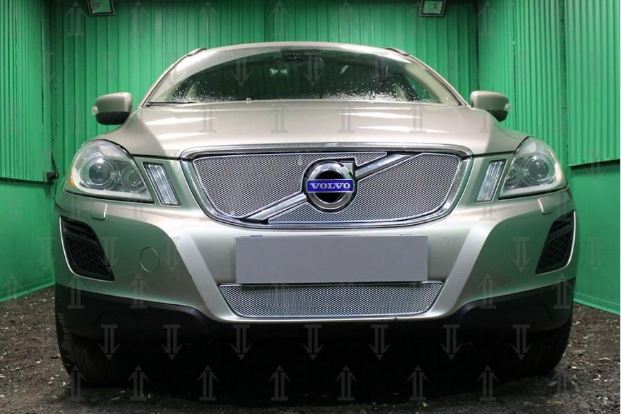 Защита радиатора Volvo XC60 2008-2013 chrome верх OPTIMAL