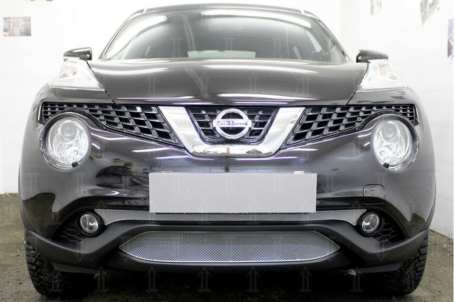 Защита радиатора Nissan Juke 2014- chrome середина OPTIMAL