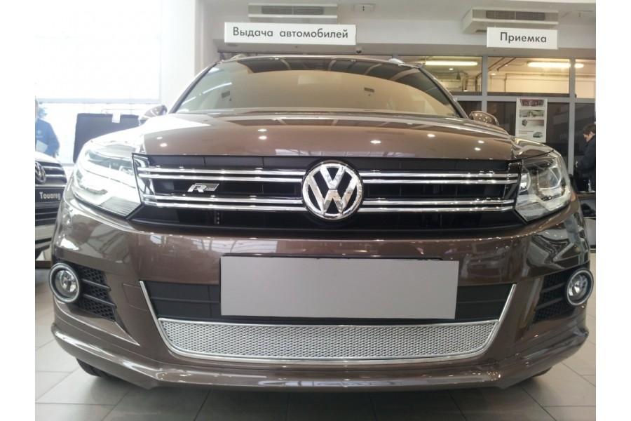 Защита радиатора Volkswagen Tiguan (рестайлинг) 2011-2016 chrome PREMIUM