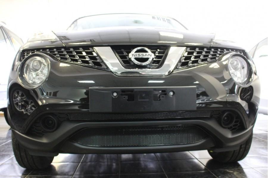 Защита радиатора Nissan Juke 2014- black верх PREMIUM