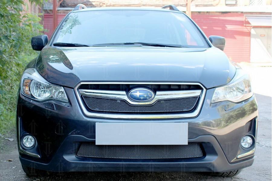 Защита радиатора Subaru XV (рестайлинг) 2016-2017 black верх PREMIUM