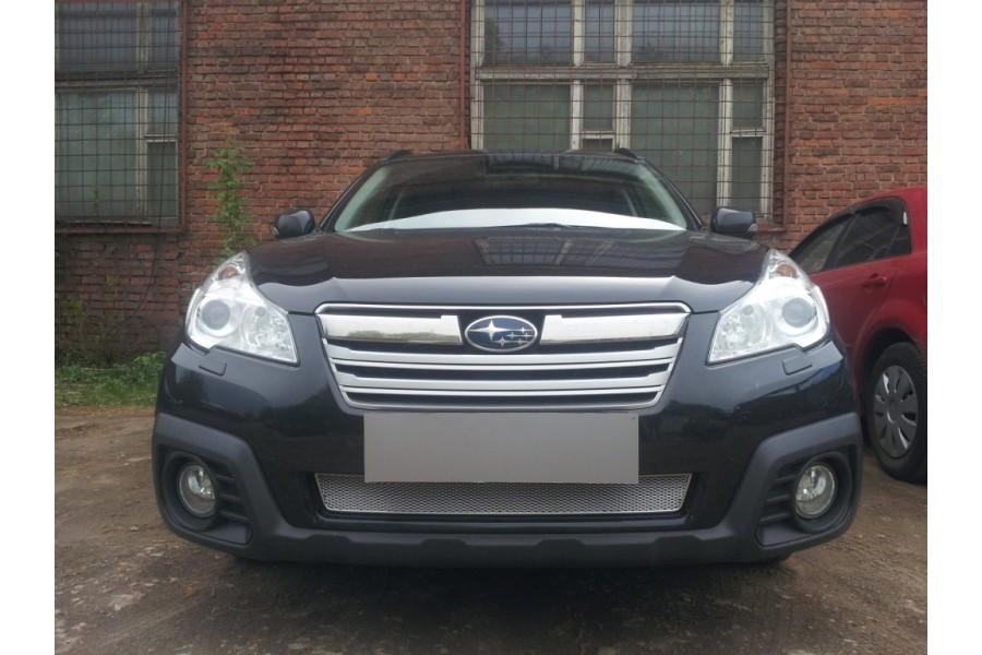 Защита радиатора Subaru Outback IV 2012-2014 chrome PREMIUM