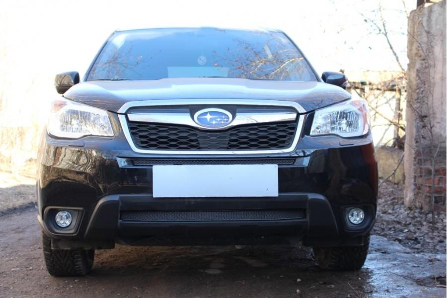 Защита радиатора Subaru Forester IV 2013-2016 black низ PREMIUM