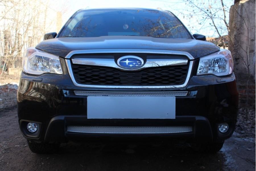 Защита радиатора Subaru Forester IV 2013-2016 chrome низ PREMIUM