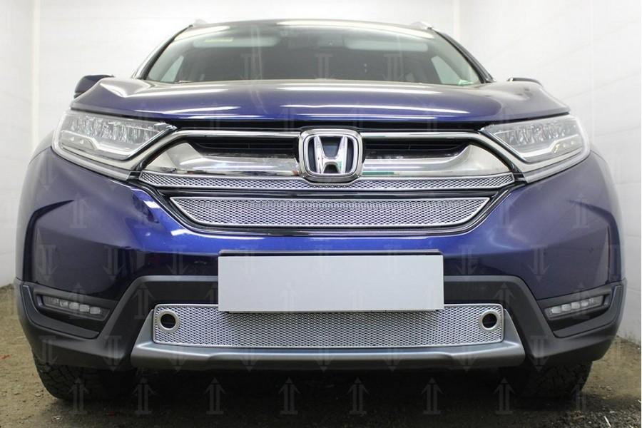 Защита радиатора Honda CR-V V 2016- (2 части) chrome верх PREMIUM
