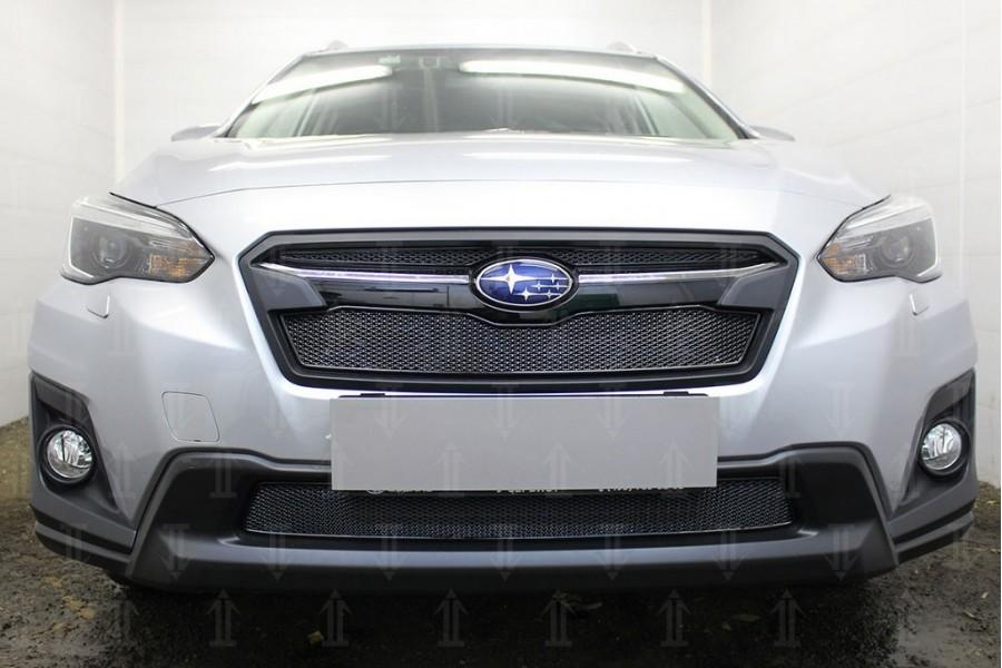 Защита радиатора Subaru XV 2017- black низ PREMIUM