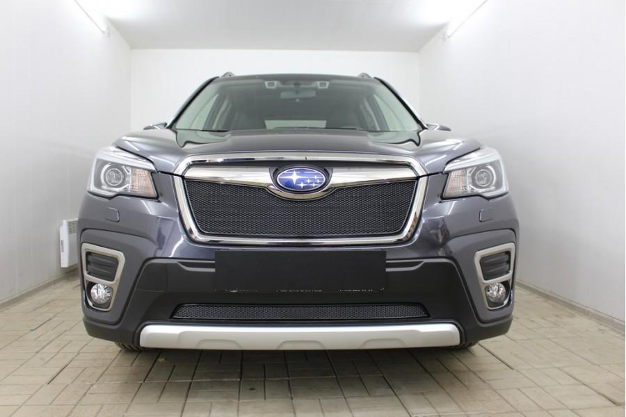 Защита радиатора Subaru Forester V 2018- black верх PREMIUM