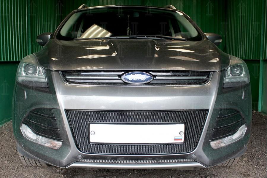 Защита радиатора Ford Kuga II 2013-2016 black PREMIUM