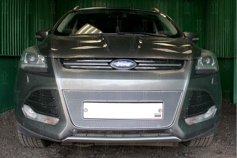 Защита радиатора Ford Kuga II 2013-2016 chrome PREMIUM