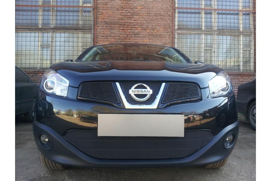 Защита радиатора Nissan Qashqai 2011-2014 black низ PREMIUM
