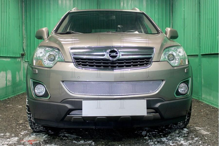 Защита радиатора Opel Antara I (рестайлинг) 2010- chrome низ PREMIUM