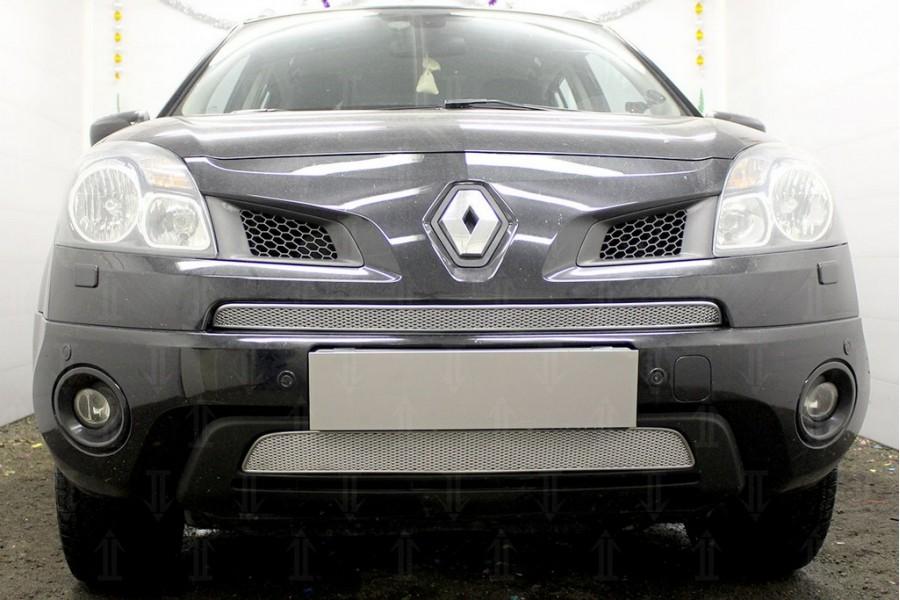 Защита радиатора Renault Koleos 2008-2011 chrome середина PREMIUM
