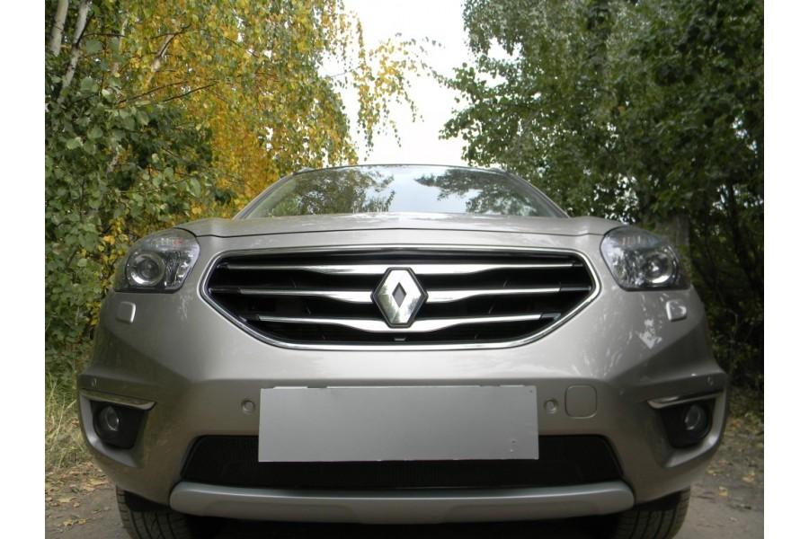 Защита радиатора Renault Koleos 2011-2016 black PREMIUM