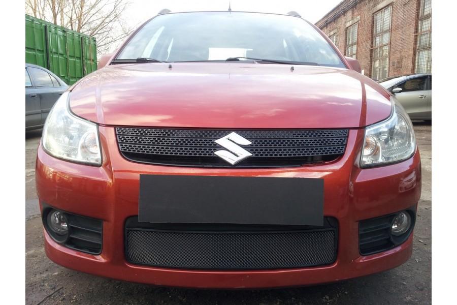Защита радиатора Suzuki SX4 hb 2006-2007 (венгерская сборка) black