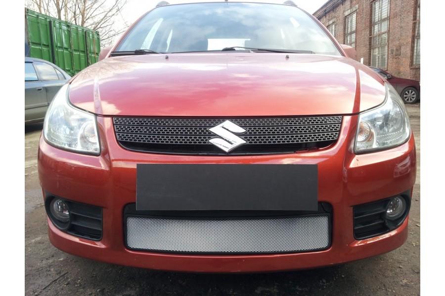 Защита радиатора Suzuki SX4 hb 2006-2007 (венгерская сборка) chrome