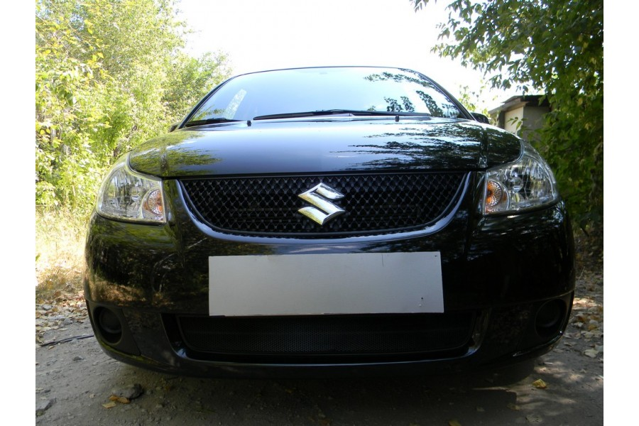 Защита радиатора Suzuki SX4 sedan 2007-2011 black