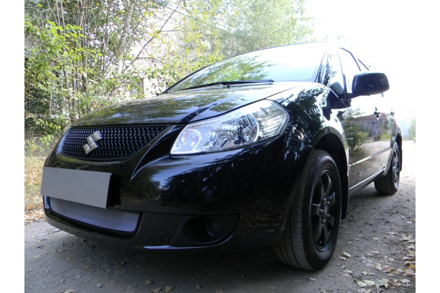 Защита радиатора Suzuki SX4 sedan 2007-2011 chrome