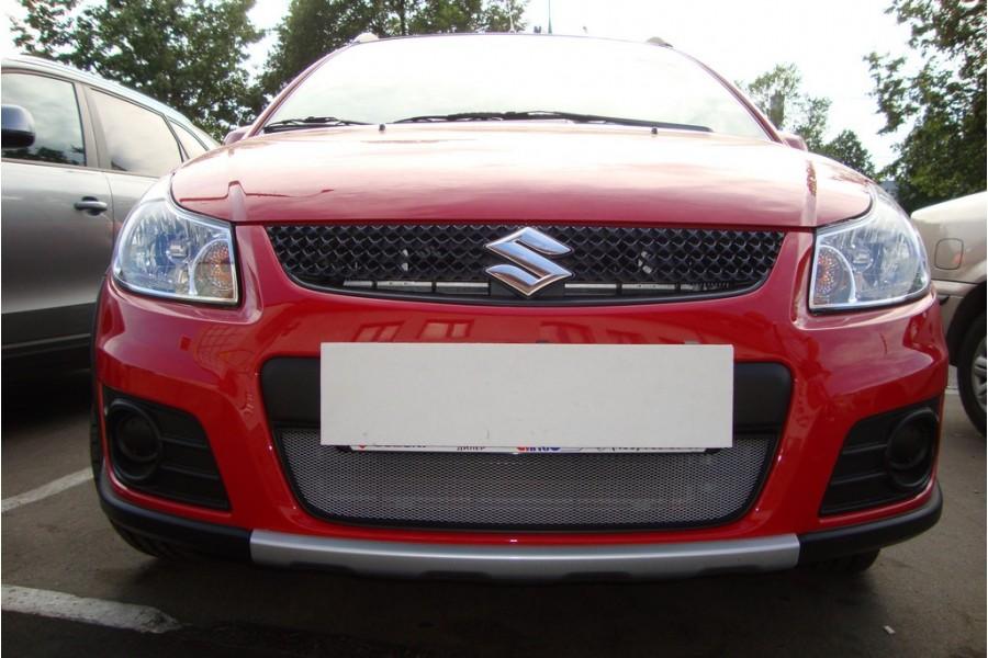 Защита радиатора Suzuki SX4 hb 2009-2014 рестайлинг chrome