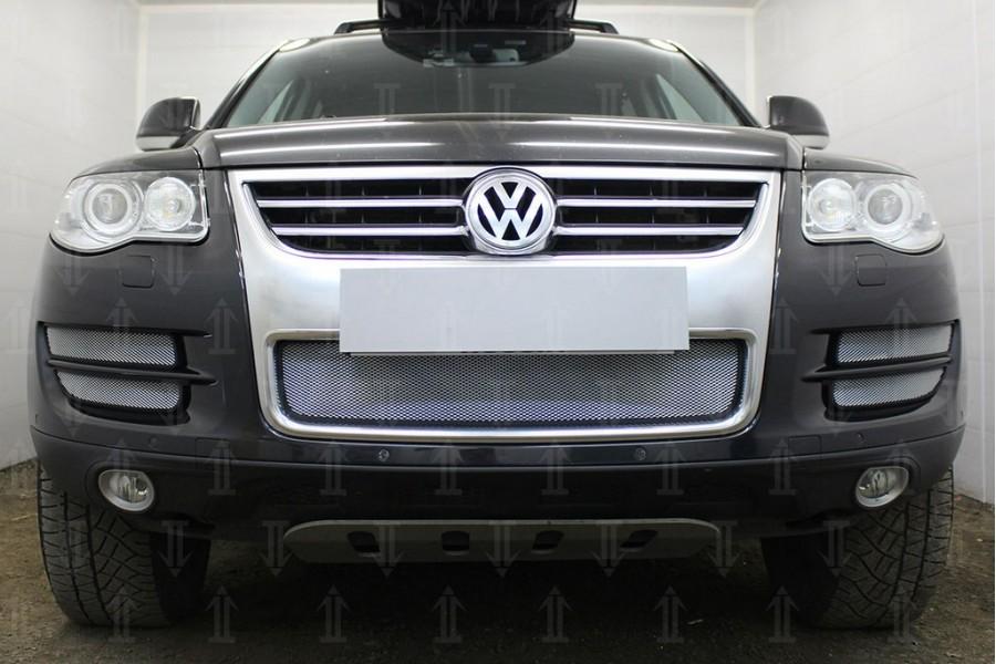 Защита радиатора Volkswagen Touareg I 2007-2010 chrome низ