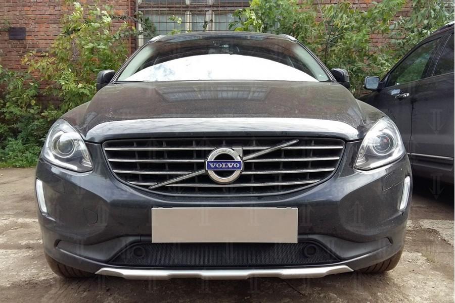 Защита радиатора Volvo XC60 2013-2017 с парктроником black